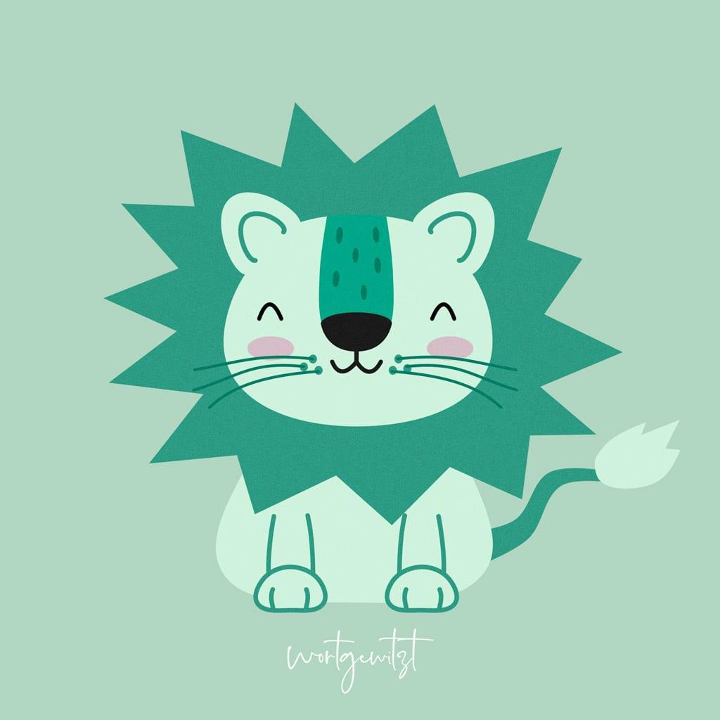 Kleiner grüner Löwe