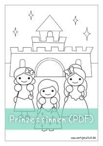 Downlaod Prinzessinnen mit Schloss als PDF