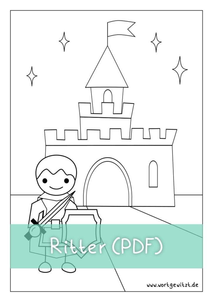 Download Ritter Ausmalbild als PDF