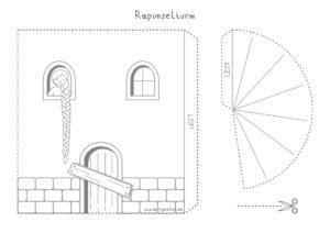 Bastelvorlage Rapunzelturm