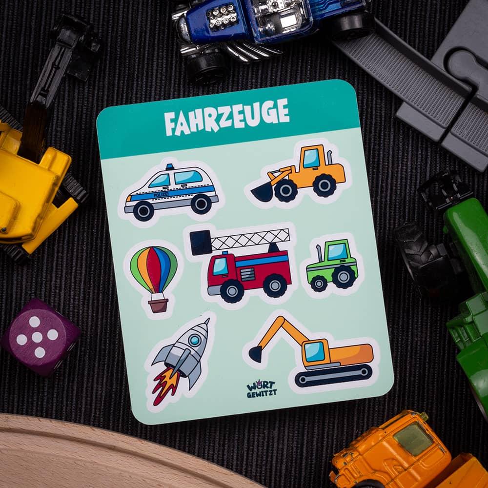 Stickerbogen Fahrzeuge