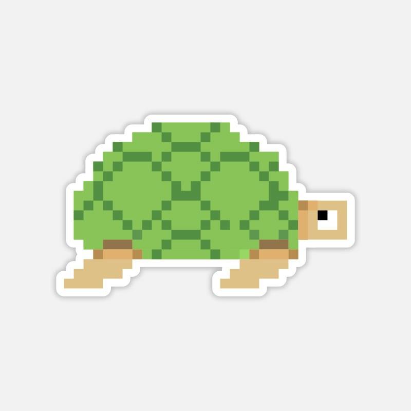 Sticker für den Laptop Schildkröte Pixelart