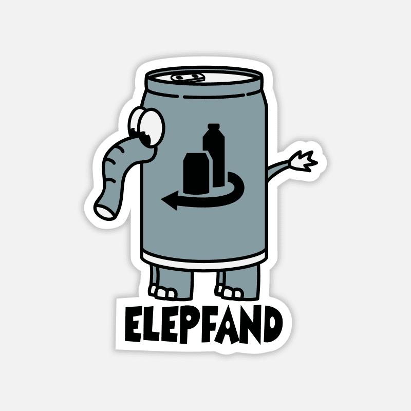Sticker für den Laptop - Elefant als Elepfand