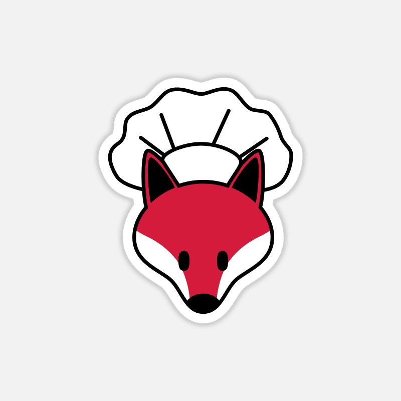 Laptop Sticker Fuchs mit Kochmütze