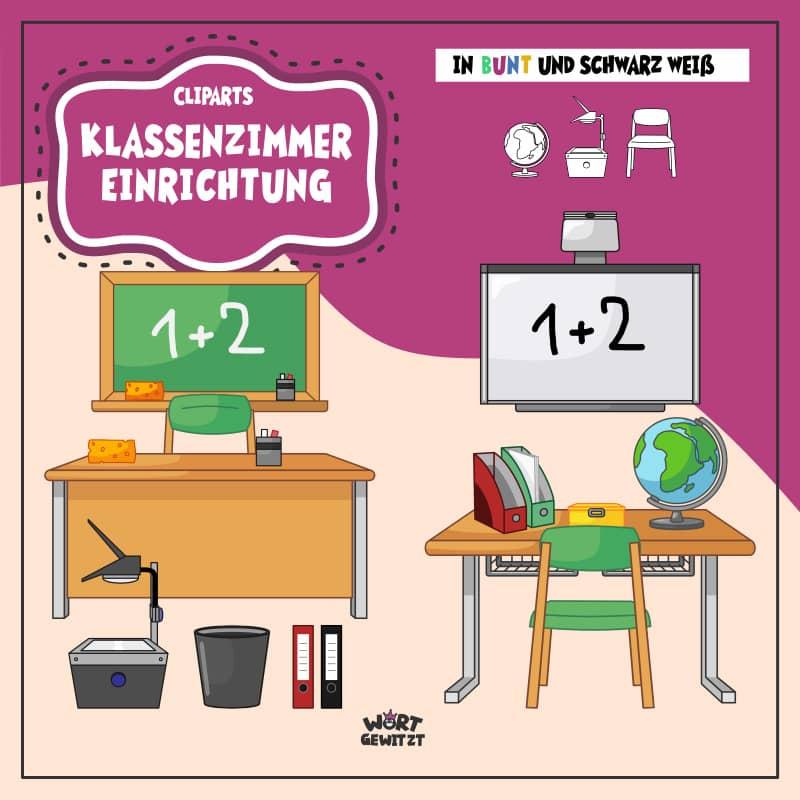 Cliparts Klassenzimmer Einrichtung