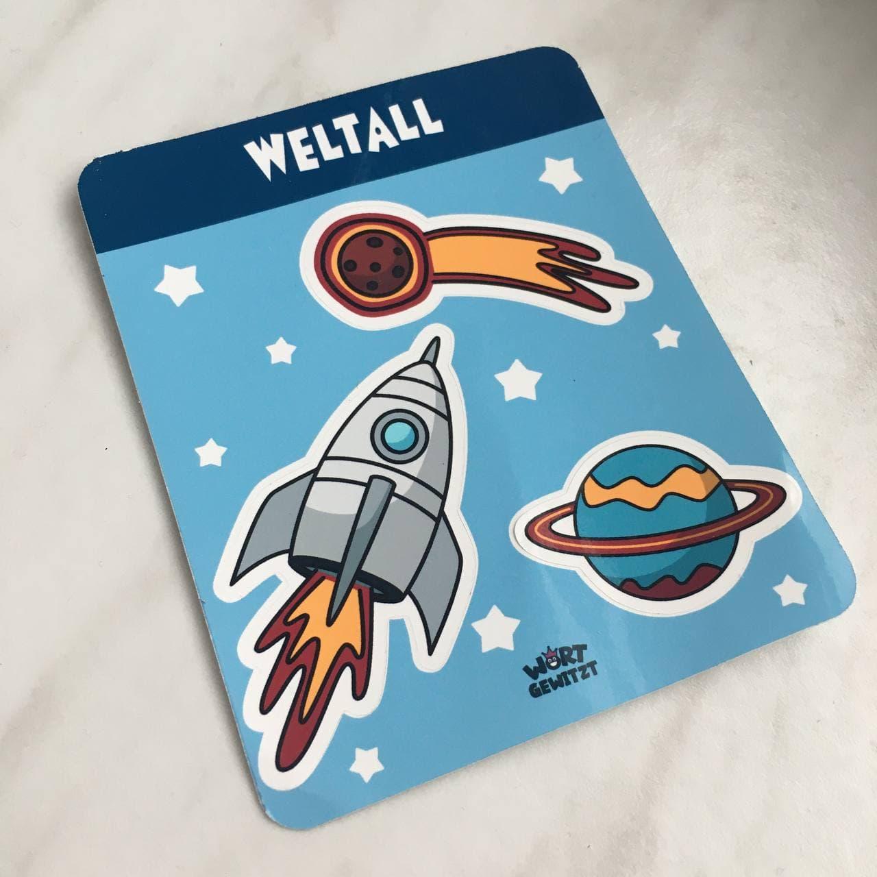 Sticker Motiv Weltall - Sticker selber machen