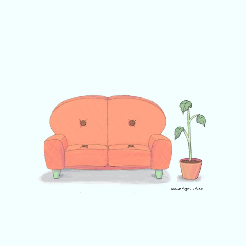 Illustration einer Couch